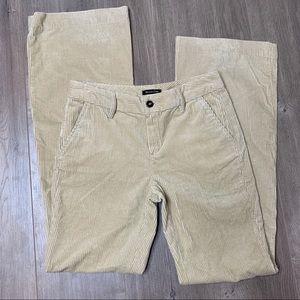 MASSIMO DUTTI | Light Tan Corduroy Flare Pants